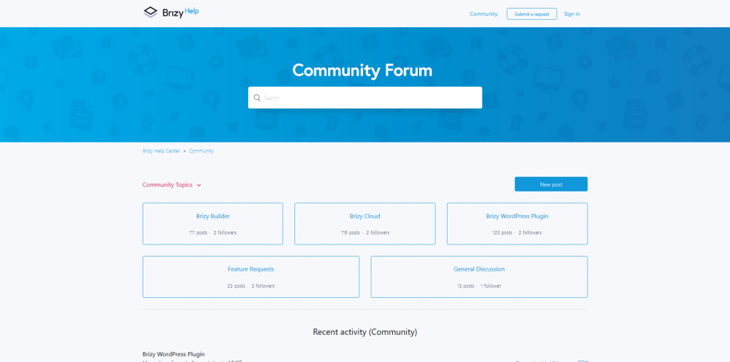 Brizy Pro - Community support forum