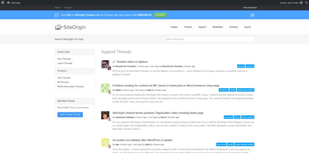 SiteOrigin Page Builder - Support Forum