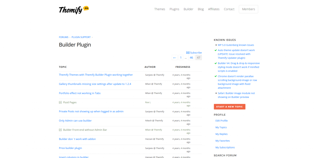 Themify Builder - Their Support Forums Are Busy